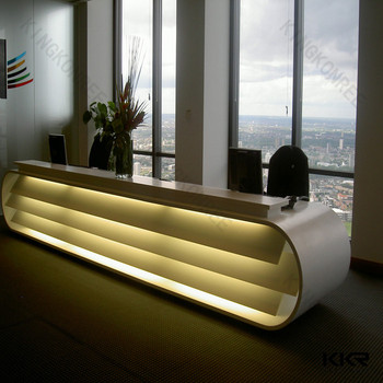 unique design work reception desk modern solid surface reception desk