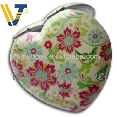 2014 newest heart shaped souvenir compact mirror