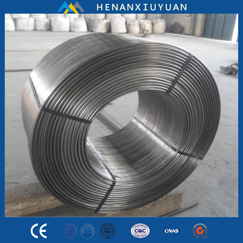 Chinese dealer export CaSi cored wire , calcium silicon alloy powder cored wire