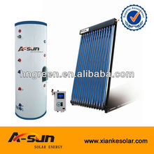 TUV/EN12975/CE approved split pressure solar hot water heater system with heat pipe solar collector