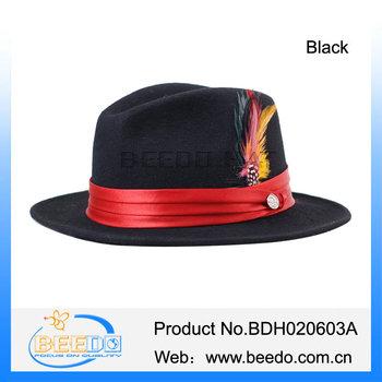 Stylish Mens Homburg Johnny Depp Fedora Hat Wide Brim Men - Buy ... 94eb5187a593
