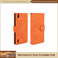 Leather Mobile Phone Bags&Cases Business Leather Case For Huawei Ascend P7