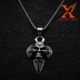 2016 Popular High Quality Stainless Steel Big Cross Jewerly Mens Biker Skull Pendant with Different Style