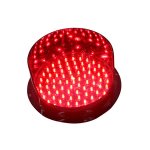 200mm red LED flashing signal light traffic led light lamp
