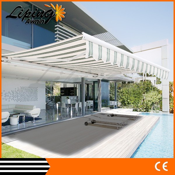 Modern outdoor poly carbonate awning, aluminum white bracket canopy