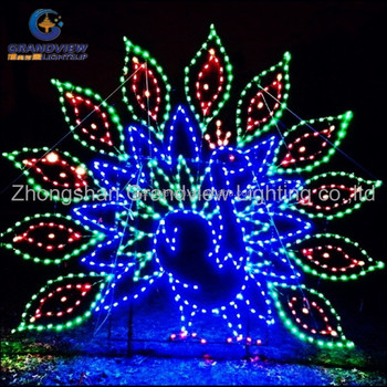 Hot Sale 2d Led Peafowl Animal Christmas Decoration Lights With Ce ...