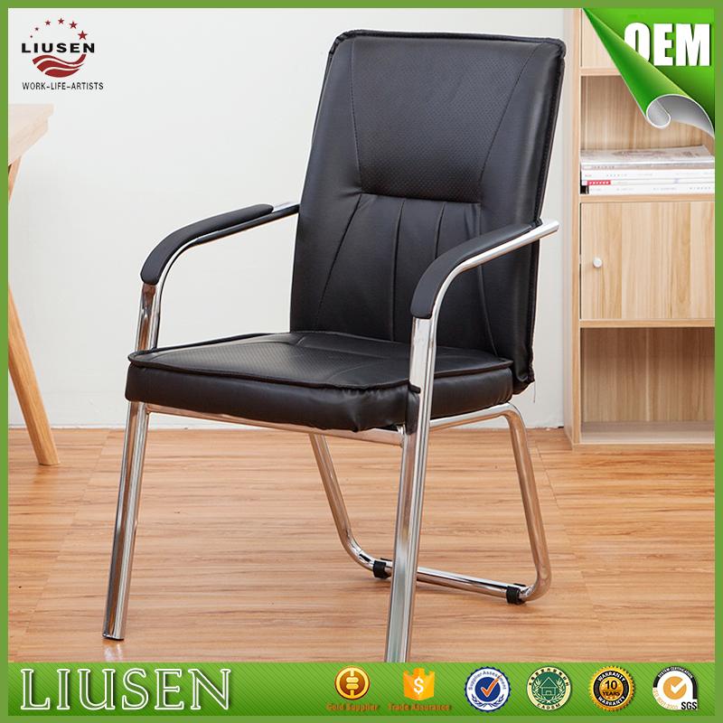 Venta al por mayor sillas de oficina de cuero sin ruedas-Compre ...