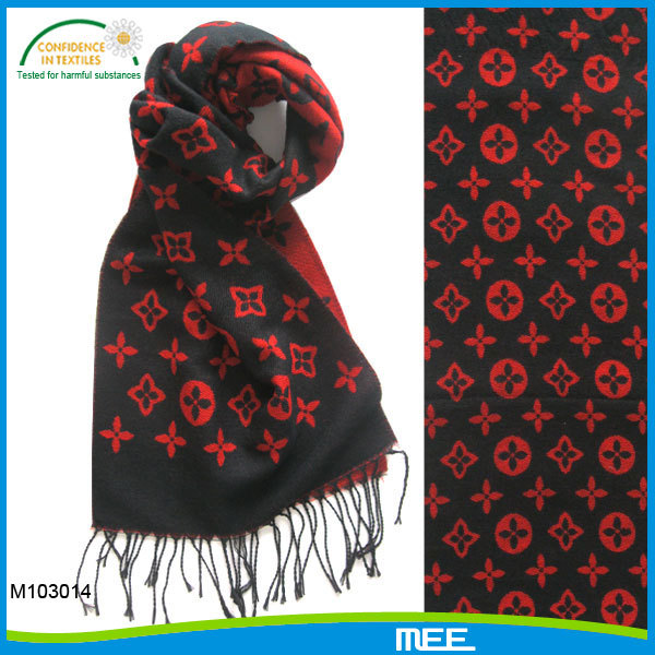 red color coins print scarf