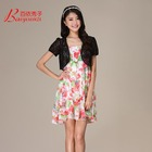 Women's High Quality Polyester / Nylon maxi floral dress Shawl In Stock