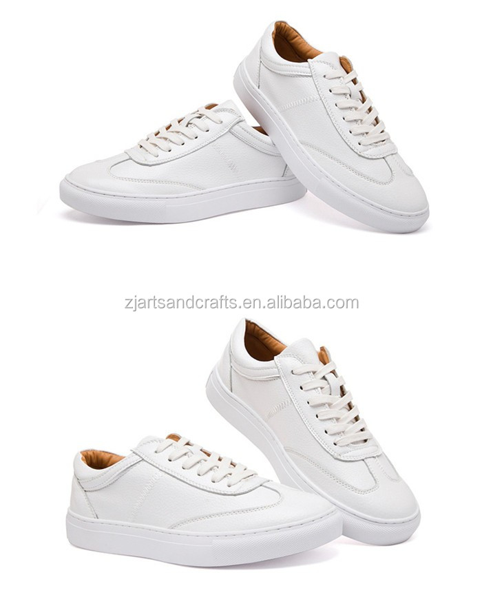 Wholesale fashion flat casual PU white ladies shoes women
