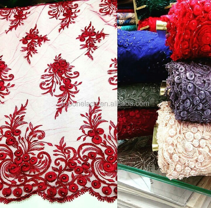 Handmade korean french lace fabric d flower