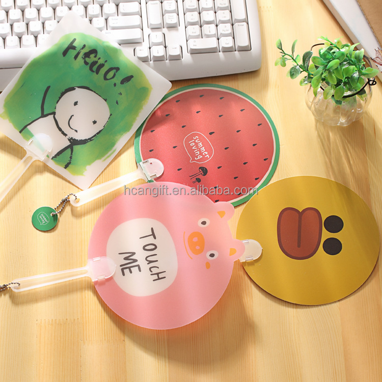 Customized logo printing PP Plastic fan for advertising and promotion summer cool hand fan for gift