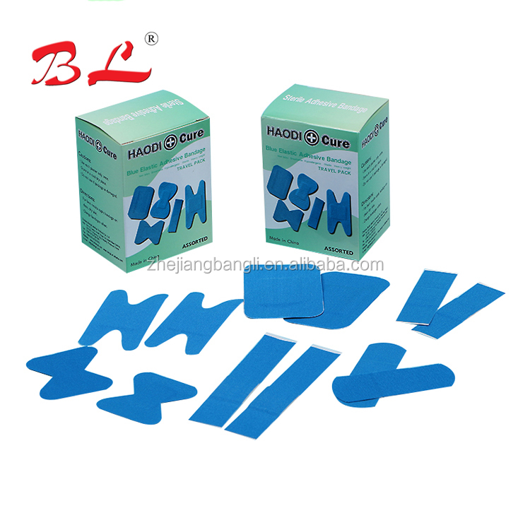 China Supplier personal care food industry LATEX-FREE blue detectable wound plaster