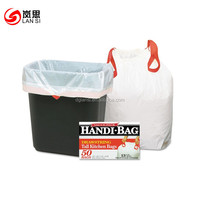High quality 13 gallon drawstring kitchen trash bags in different colors