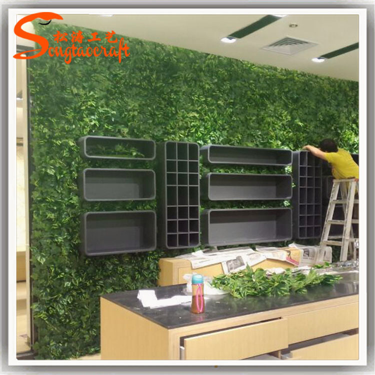 Wall Plant Decor chinese factory artificial fake green grass plant wall decor