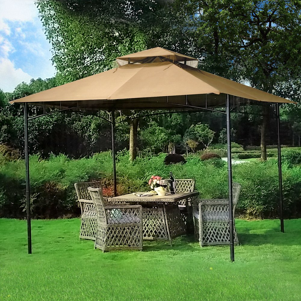 Get Quotations · 10u0027 X 10u0027 Grove Patio Canopy Gazebo