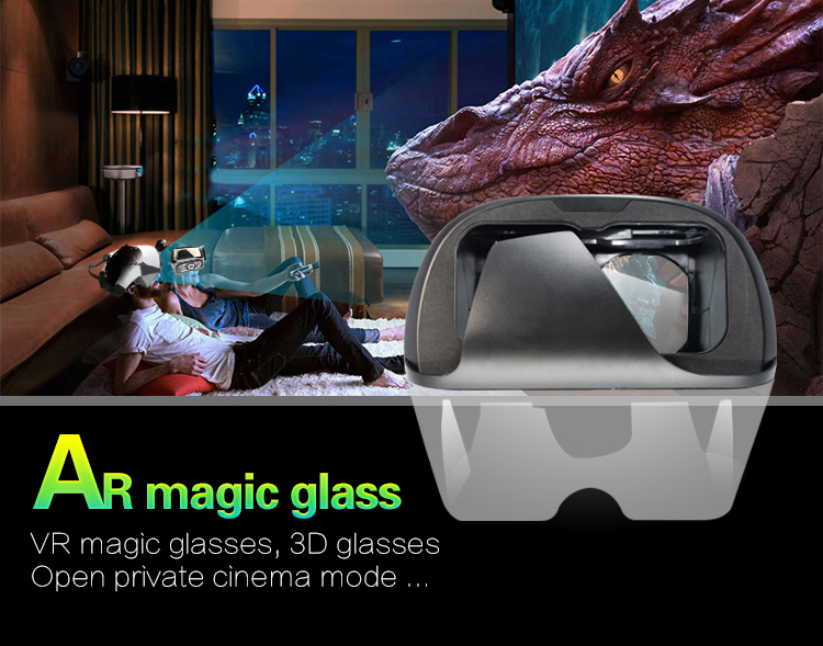 2019 magic 4D ar glasses augmented reality cardboard box