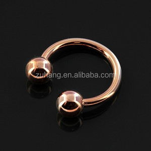 Rose Gold PVD Surgical Steel Circular Barbell Horseshoe Ring
