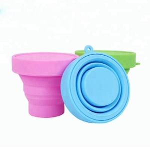 Silicone drinking cup plastic soft foldable collapsible cup & folding cup