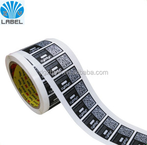 Silver foil vinyl label stickers increasing serial number printing for industrial label stickers