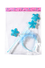 High Quality Shiny Blue Star Headband And Wand For Girls