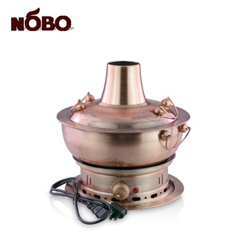Wholesale Cooper Silver Charcoal Grill Hotpot Dish Shabu-shabu Japanese Steamer Beef Electric Hot Pot