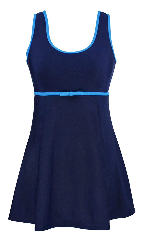 a8f1e1c8ae79 Get Quotations · Women's Plus Size Swimwear Modest Bathing Suits Cover up  Swim Dress