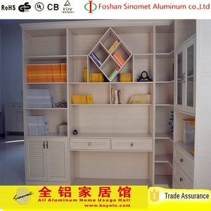 2017 hot sell all aluminum clear plastic bookcase