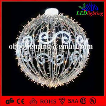 2015 Multi Color Outdoor Hanging Christmas Led Light Balls 3d ...