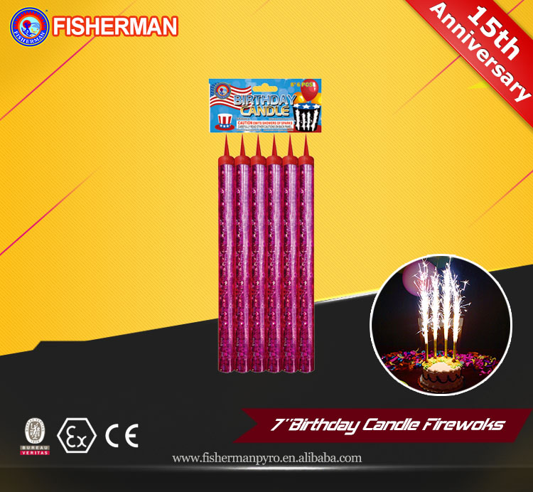 8 Inch magic happy birthday cake candle fireworks