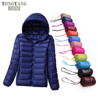 TONGYANG Stock Ultra Thin And Lightweight Foldable Winter Women Down Jacket 2019