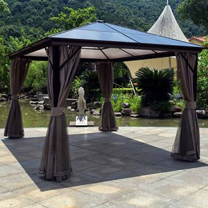 Alum steel gazebo outdoor garden patio sun shelter Roma PC gazebo
