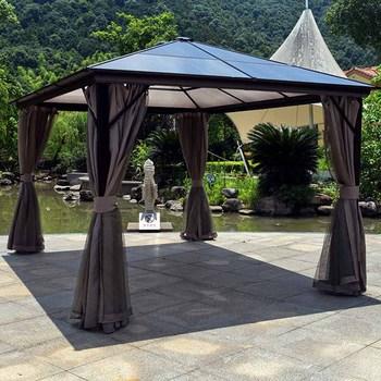 Alum Steel Gazebo Outdoor Garden Patio Sun Shelter Roma Pc