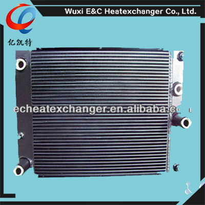 plate and bar/fin air water heat exchangers price for compressor cooler for compressor