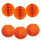 Paper Honeycomb Ball And Paper Lantern For Halloween Party Decorations