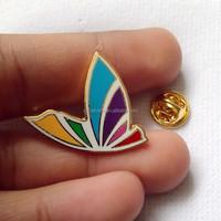 Cloisonne Enamel Metal Badges/Butterfly Shape Lapel Pin/Badge Pin