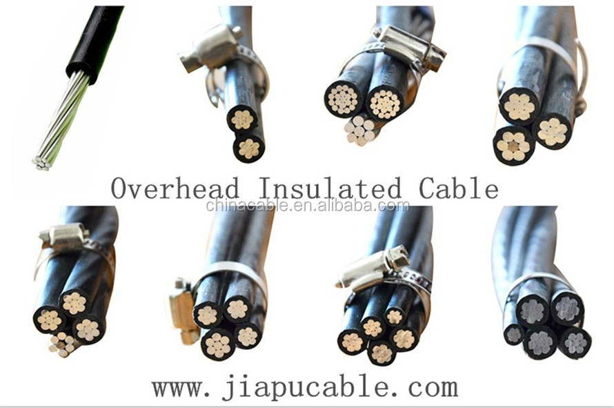 LV ABC cable AAC/HDPE3x95mm2+ACSR1x95/14mm2 Triplex Service Drop ACSR Neutral Conductor
