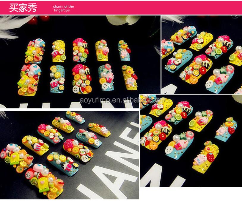 Groothandel Nail Art Canes Cartoon Diy Polymeer Klei Fimo Versieren