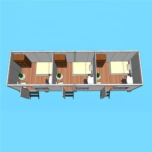 One Bedroom Container House Mobile Wood House Prefabricated Log Cabin