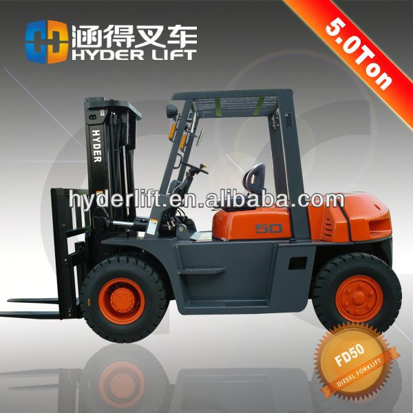 5ton forklift with chaochai engine