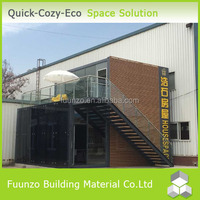 Quick Assembly Delicate Prefabricated Office House with Chair