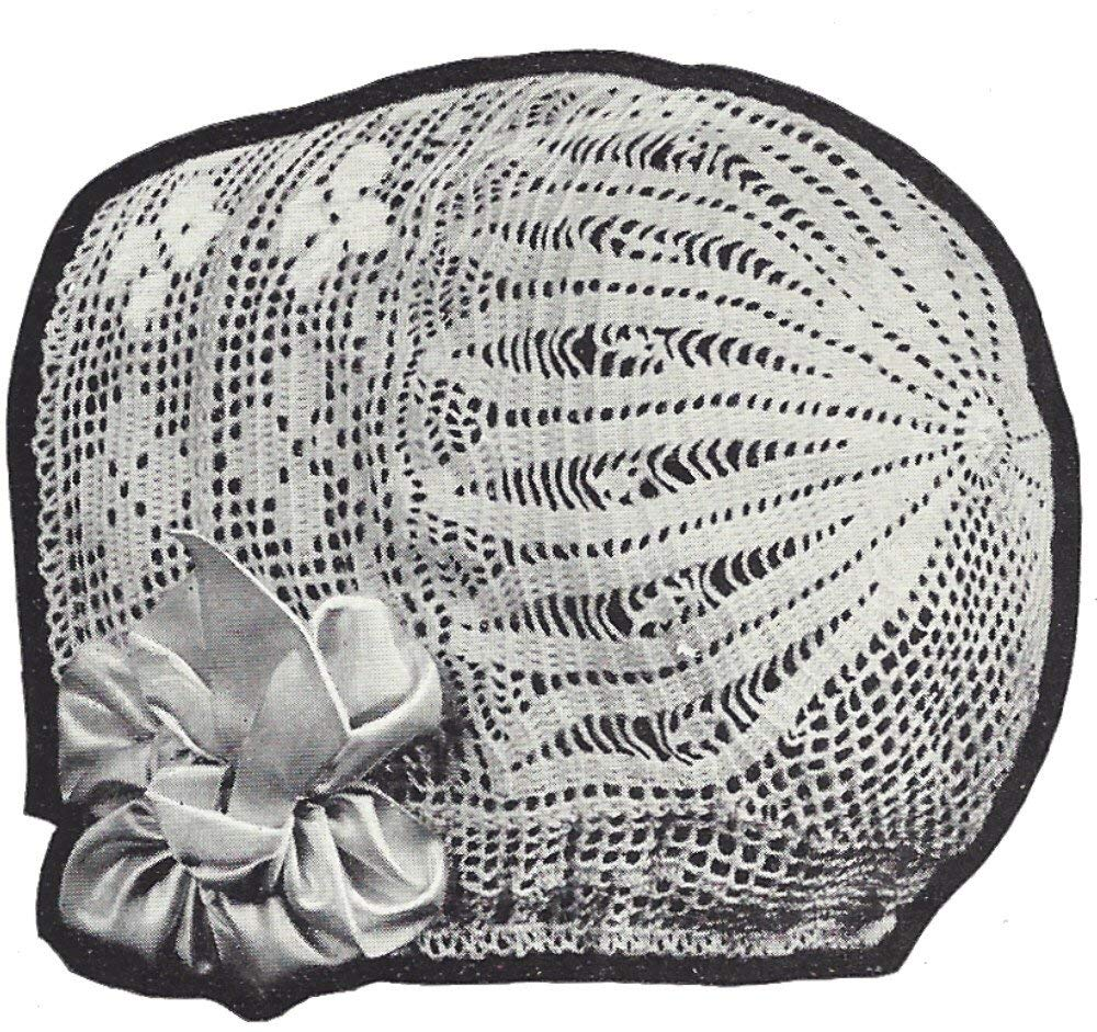 Vintage Crochet PATTERN to make - 1921 Antique Baby Bonnet Hat Cap 2 Patterns. NOT a finished item. This is a pattern and/or instructions to make the item only.