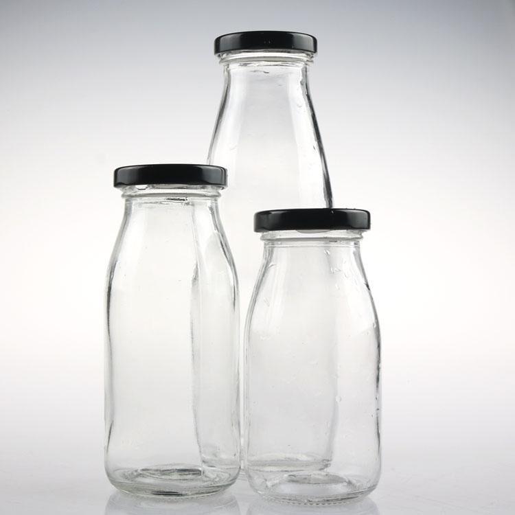 1000 ml 500 ML 250 ML glasmilchflasche mit nockendrehverschluss