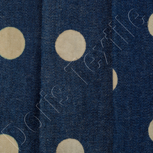 6.5oz Blue Polka Dotted Tencel Denim Jacquard