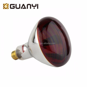 Top red hard glass 250w infrared lamp heating bulb with CE ROHS ETL certificate