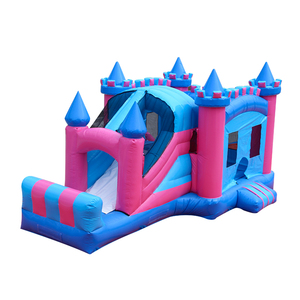 Double color castle with slide Guangzhou inflatable castle