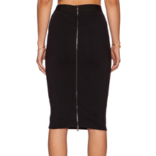 Hot OL Skirt Women Slim Fitted Knee Length Pencil Skirt High Waist Straight women back zipper skirt Multi-color Wholesale 41