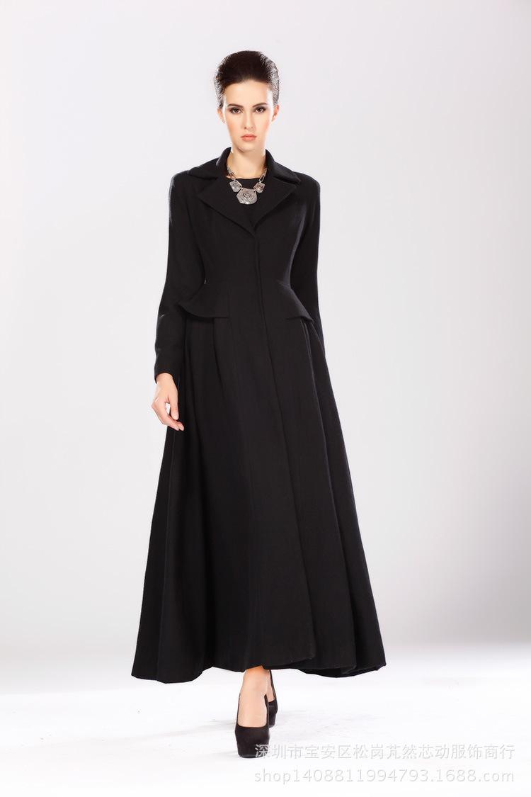 645570ea3a7 URSMARTHigh-end brand new autumn and winter female long black coat  weatherproof women windbreaker jacket. Images of Women S Long Coats - Watch  Out