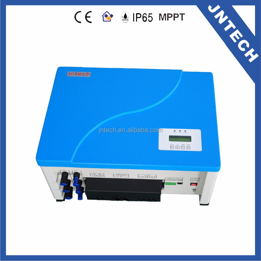 Jntech 5kVA hybrid solar off-grid inverter with mppt charge controller for solar power system