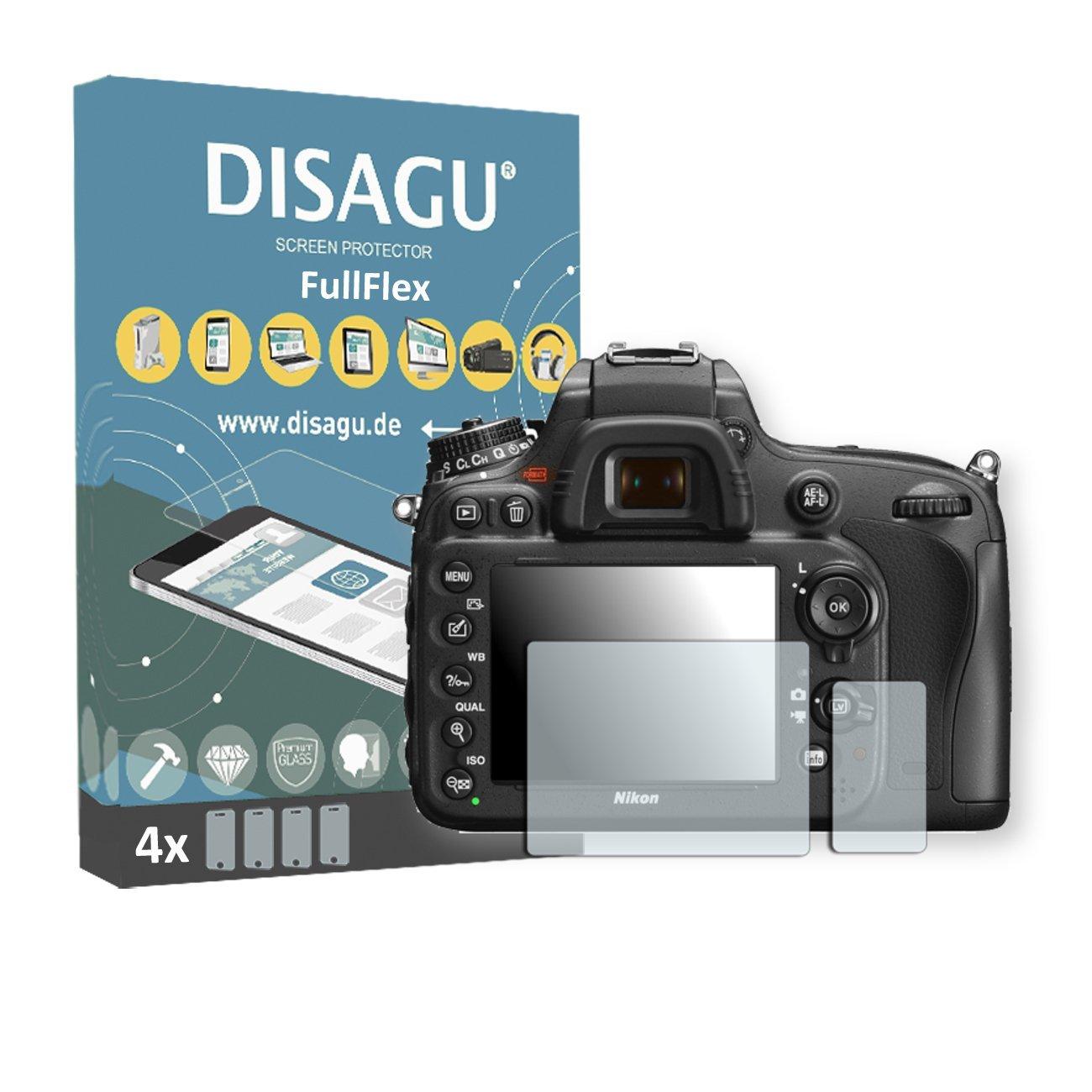 4 x Disagu FullFlex screen protector for Nikon D600 foil screen protector